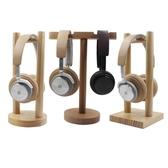 實木頭戴式耳機掛架 網吧游戲木質耳機架