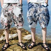 夏季泰國褲子男燈籠褲加大碼男裝民族風服飾沙灘褲男褲短褲潮   夢曼森居家