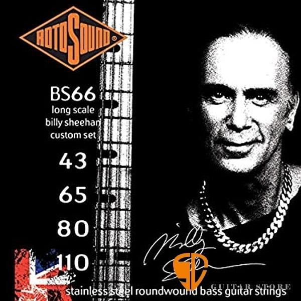 【缺貨】ROTOSOUND BS66 電貝斯弦 (43-110) Billy Sheehan簽名弦 【英國製/BASS弦/BS-66】