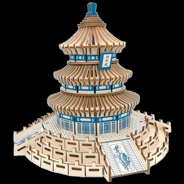 成人高難度3diy木質立體拼圖建筑手工拼裝模型木頭房子拼插積木制 喵小姐