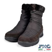 【IMAC】義大利毛飾保暖氣墊中筒靴  深咖啡(82779-DBR)