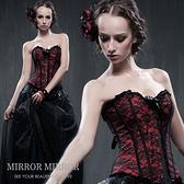 馬甲 巴黎奢華迷樣紅塑身馬甲-束身、表演服_蜜桃洋房