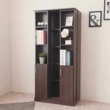 Hopma 都會雙排活動書櫃 胡桃木