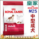 ◆MIX米克斯◆◆法國皇家狗飼料,M25中型成犬-15kg ,大包飼料