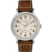 TIMEX 天美時 美式全數字休閒咖啡皮帶錶 40mm 夜光冷光面板 TXT2R42400 公司貨 | 名人鐘錶