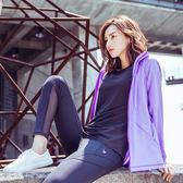 【MACACA】air-flow UV防曬外套-ASA4143(紫)(瑜伽/慢跑/健身/輕運動)
