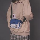 帆布包休閒斜背小包女學生帆布袋森繫文藝單肩包韓版百搭日繫小方包促銷好物