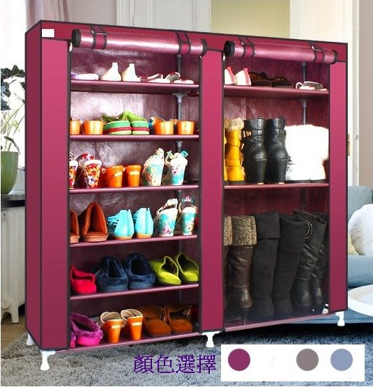 《Chair Empire》椅子帝國 九大隔層大容量組裝鞋櫃 鞋架置物櫃 置物架(紅色)