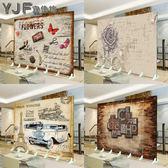 (超夯免運)屏風隔斷時尚歐式玄關門折屏防水辦公室臥室客廳復古折疊(六扇價格)xw
