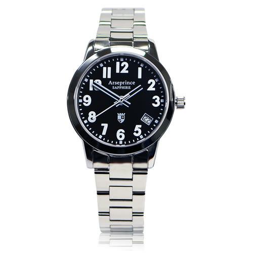 【Arseprince】經典指針個性時尚女錶-黑色