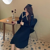 秋季法式復古連身裙女裝2020秋裝新款小個子顯瘦氣質長款長袖裙子
