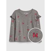 Gap女幼童迪士尼荷葉邊飾圓領T恤519119-清新豆沙綠