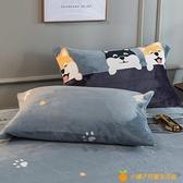 冬季鋪床珊瑚法蘭絨床單毯子蓋毯加厚保暖舒適【小橘子】