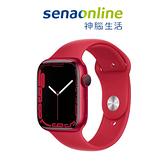 Apple Watch S7 GPS 45mm 紅色鋁金屬-紅色運動型錶帶[預約賣場]