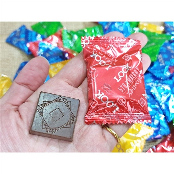 不二家look威化巧克力 500g(80個)【2019062400002】(日本巧克力)