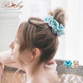 髮飾 蕾絲滾邊素面髮圈-Ruby s 露比午茶
