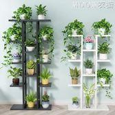 綠蘿花架子家用多層室內特價省空間鐵藝花架多層客廳陽臺花盆架子 moon衣櫥