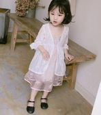 女童防曬衣夏裝新款兒童寶寶空調衫韓版蕾絲薄款外套 全館免運