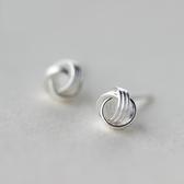 925純銀耳環(耳針式)-創意毛線球生日聖誕節交換禮物女飾品73dr134【時尚巴黎】