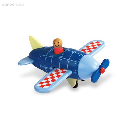 法國Janod 磁性拼裝積木-螺旋槳飛機
