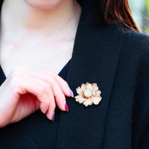 中國風富貴牡丹花大小胸針女大衣旗袍胸花