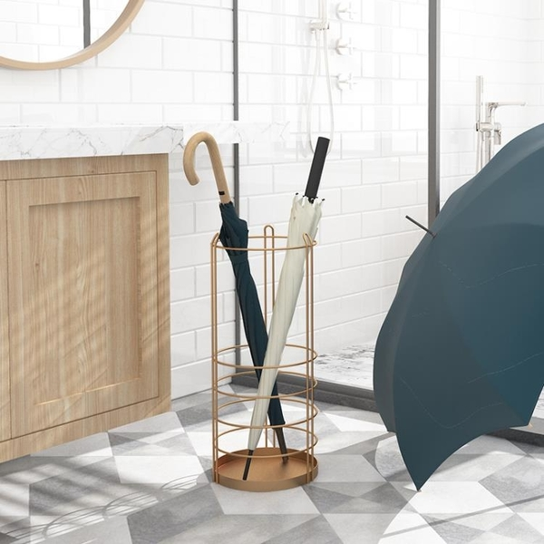 ELF生活志鐵藝雨傘架時尚簡約創意雨傘桶大堂家用落地掛傘架