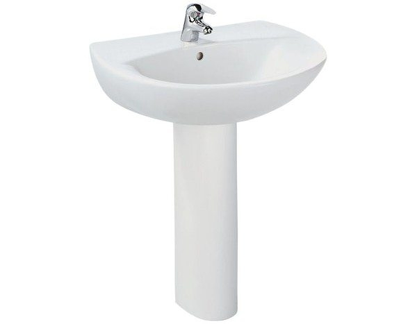 【麗室衛浴】美國 KOHLER PATIO系列 單孔面盆+長腳 K-2477T-1-0