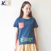 American Bluedeer - 森林刺繡上衣(魅力價)  春夏新款