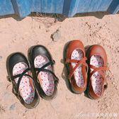 春季新款原宿軟妹小皮鞋復古圓頭娃娃鞋日繫小清新文藝女單鞋艾美時尚衣櫥