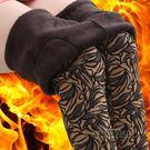 秋冬季中老年女裝女褲媽媽裝加絨加厚女褲子保暖外穿打底褲花長褲