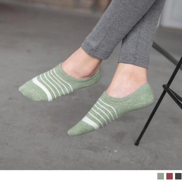 《ZB0498》台灣製造.條紋絨面防止滑隱形女襪 OrangeBear