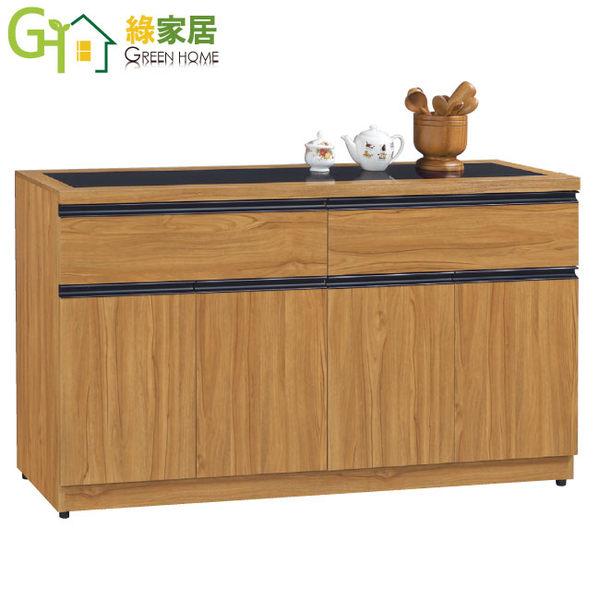 【綠家居】卡森斯 時尚5.1尺柚木紋餐櫃/收納櫃