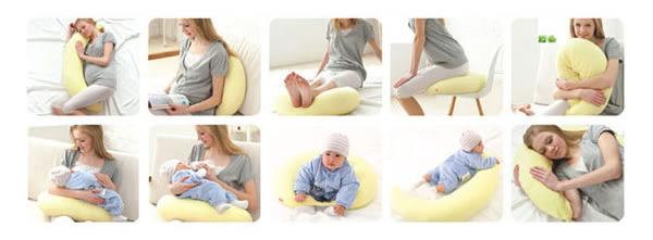【奇買親子購物網】元氣媽咪 水玉樂哺舒壓枕(水玉黃)