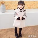 拜年服唐裝兒童漢服女童連身裙新年衣服寶寶周歲禮服女中國風冬洋裝LXY4591【極致男人】