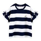 『小鱷魚童裝』荷葉袖條紋上衣(08號~16號)535455