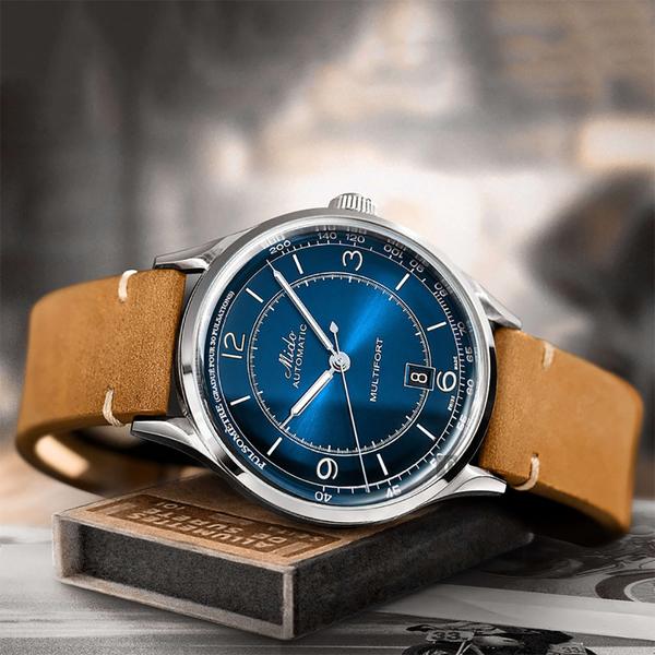 MIDO美度 Multifort Patrimony 先鋒系列復古機械錶-藍x棕/40mm M0404071604000