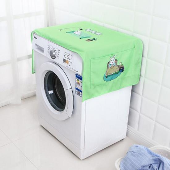 加厚印花口袋防塵罩 洗衣機 布藝 冰箱 防塵 多用蓋巾 棉質【N378】MY COLOR