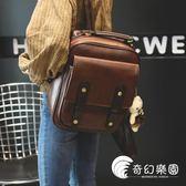 後背包-2018新款女包包復古英倫雙肩包女韓版簡約百搭學生書包女旅行背包-奇幻樂園