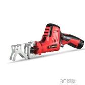 充電鋸鋰電往復鋸馬刀鋸充電式手提電鋸家用木工電動伐木鋸小型鋸子手鋸3C 優購HM