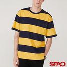 SPAO男款圓領寬條紋短袖T恤-共4色...