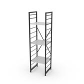 組 - 特力屋萊特 組合式層架 黑框/白板色 40x40x158cm