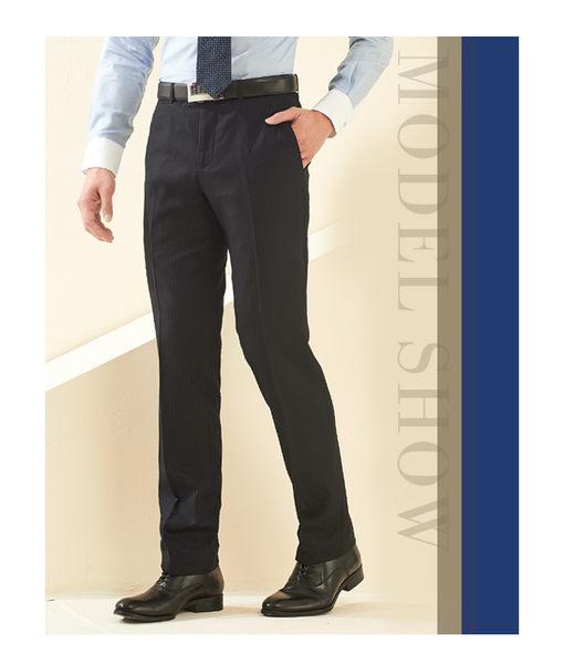 極品西服 摩登優雅暗紋仿毛平面西褲_藍(BS638-1)
