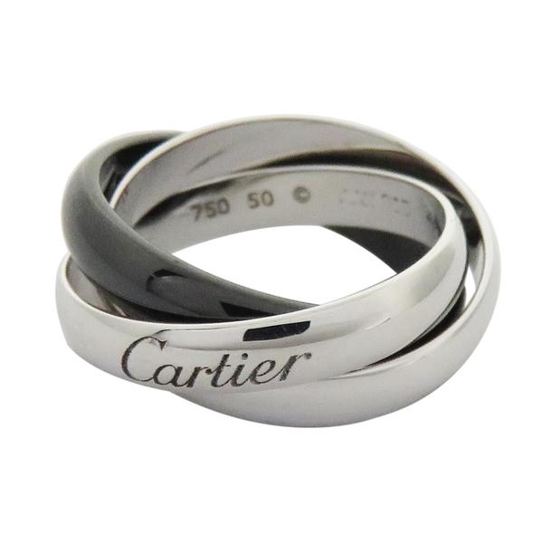 CARTIER 卡地亞 戒指和戒指 K18(750)白金 【BRAND OFF】