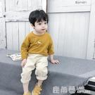 男童長袖T恤春秋新款韓版寶寶圓領打底衫兒童洋氣上衣童裝『快速出貨』