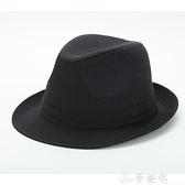 紳士帽 老人帽子男60 70 80歲爺爺冬季毛呢禮帽西服布料中年爵士帽春秋 夢藝