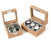 手錶收納盒 便雅花梨木紋手表盒首飾收納盒子玻璃天窗腕表收藏箱手表【快速出貨八折搶購】
