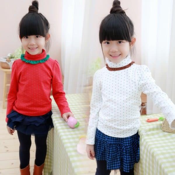 韓版《小碎花高領》加絨 長袖上衣