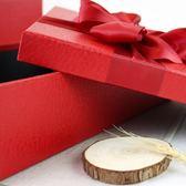 大號禮品盒韓版長方形禮物盒 商務簡約紅黑色禮盒