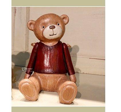 仿實木裝飾品擺臂木偶小熊(一個價)(圖一)-TG6523