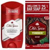 【美國原裝進口】Old Spice 原味體香膏(63g)*3+香水皂-木香*6塊